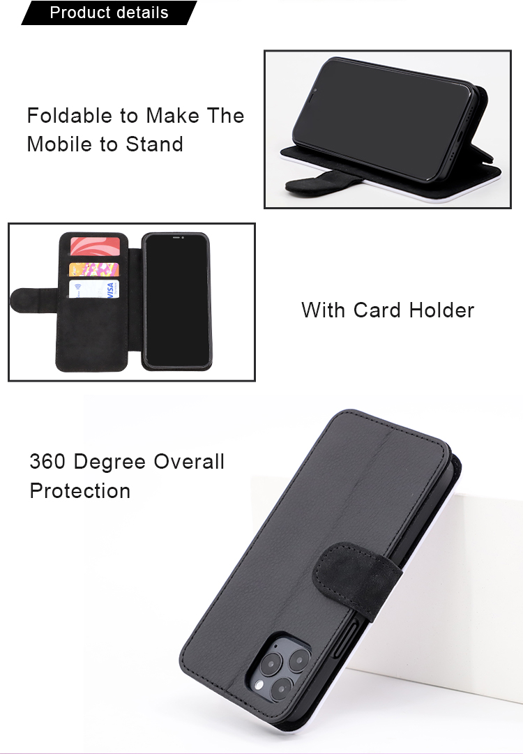 Sublimation Leather Flip Cases for iphone 12