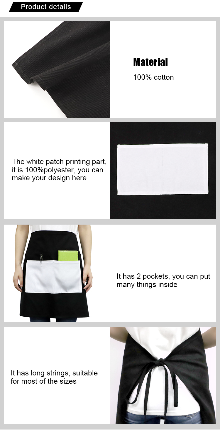 Waist Apron-Cotton with Polyester White Patch