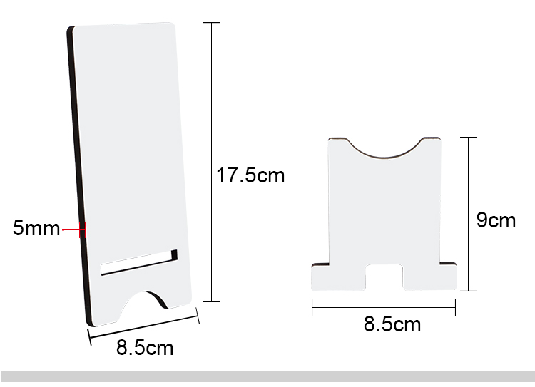 MDF Phone Stand-Small-8.4*17.5cm-5mm thickness