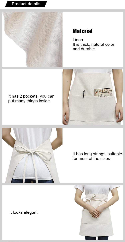 Sublimation Textile Blanks Linen Waist Apron