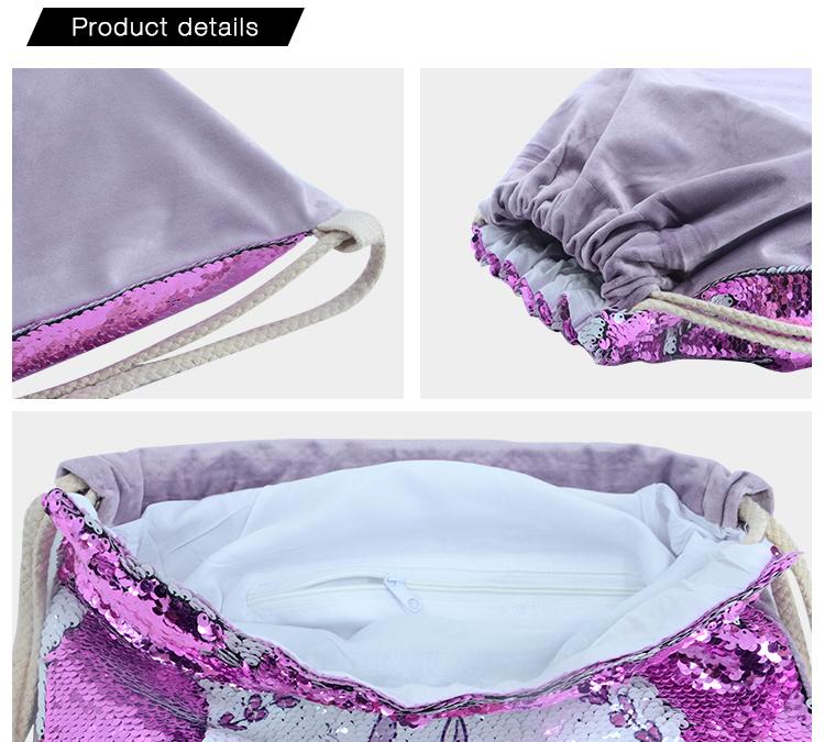Sequin Drawstring Bag