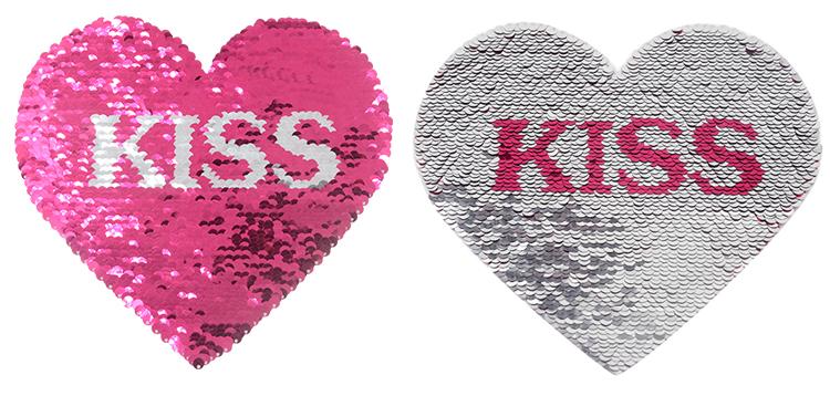 Sequin Transfer-Heart Shape(Love/Kiss) 16.5*19.5cm