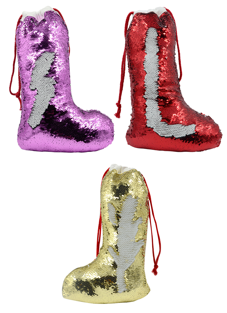 Sequin Christmas Stocking-40*26cm
