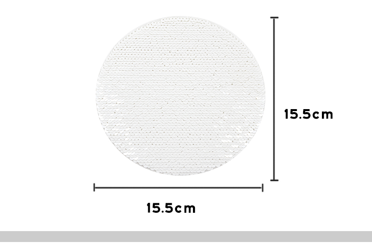 Black/White Sequin Transfer-Round Shape
