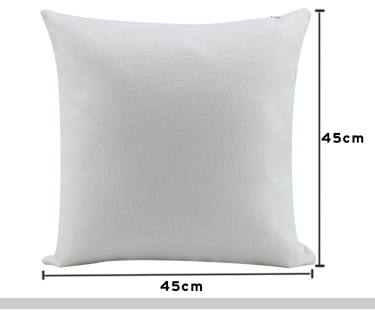 Linen Pillow Case Pure white 18
