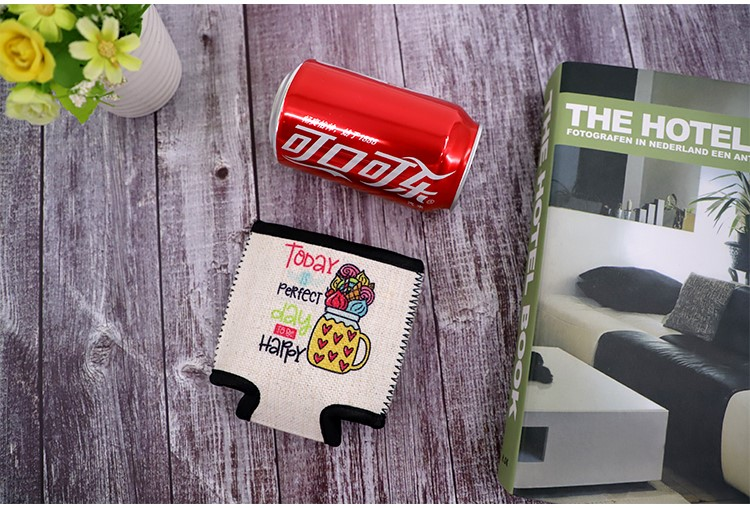 Linen Can Cooler with Base Sublimation Blank