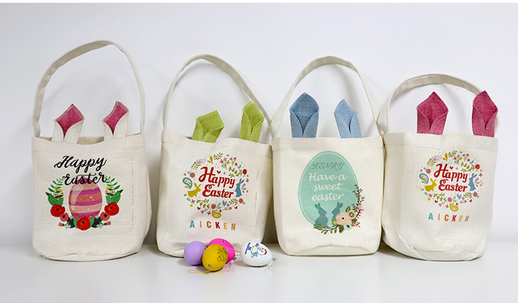 Linen Easter Basket-Natual with Nature