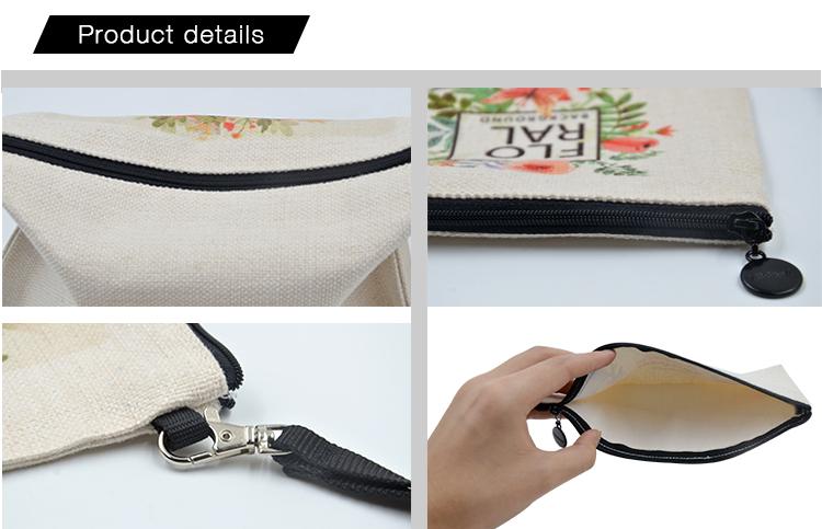 Linen Handbag Square Edge 10*15cm