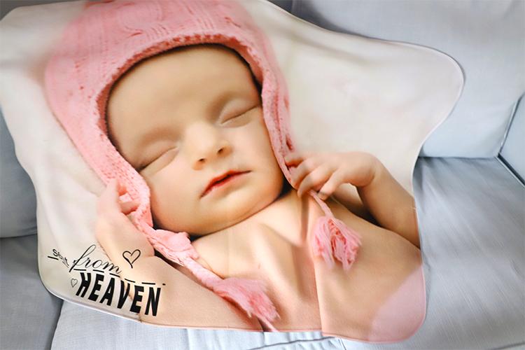 "Baby Blanket-Fleece White-29""x39"""