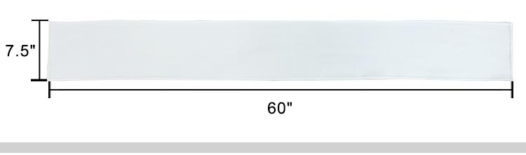 Scarf-Fleece White-7.5