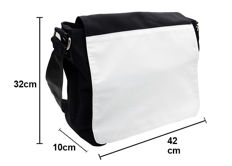 Canvas Shoulder Bag-black