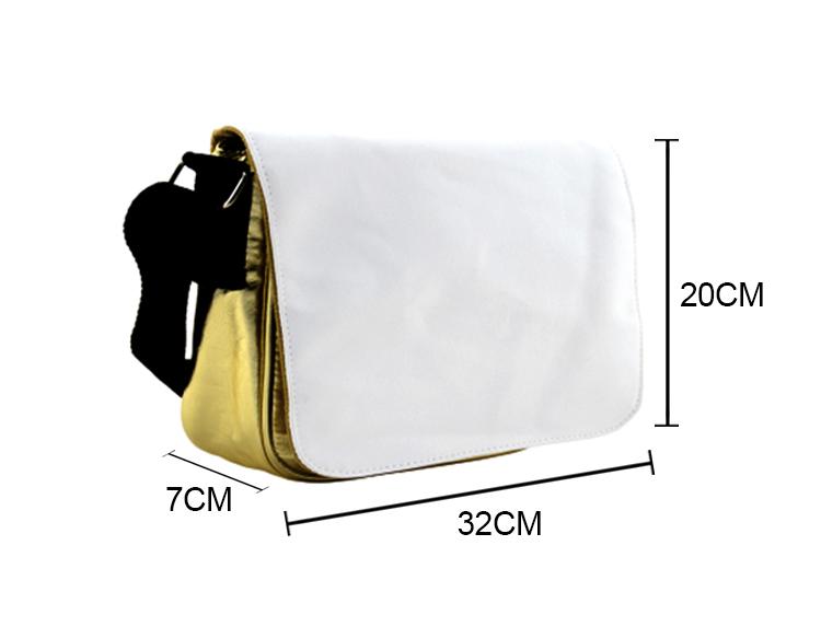 PU Leather Shoulder Bag-Golden-Small