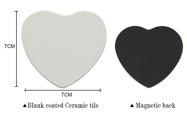 Ceramic Fridge sticker Heart