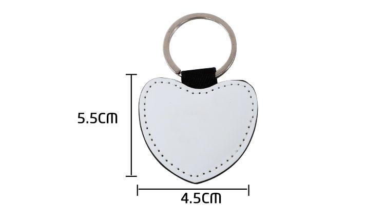 PU Keychain Heart