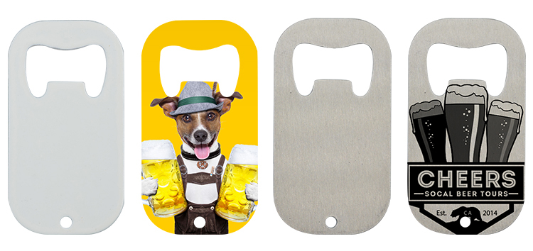 Stainless Steel Bottle Opener-Dog Tag Shape-Silver