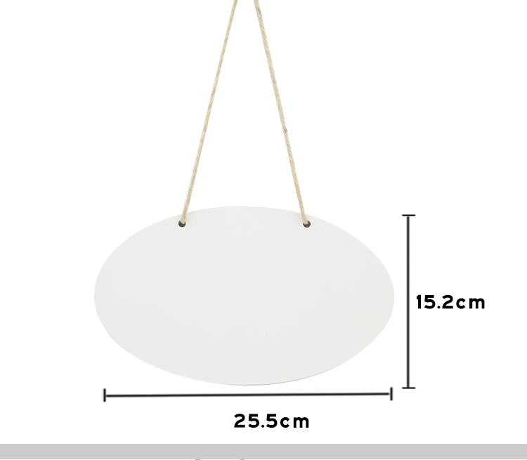 MDF Plaque Double Side Printable Oval