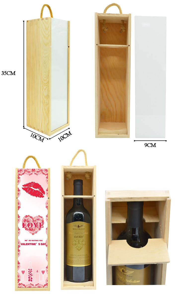 Wooden Wine Box with MDF Insert