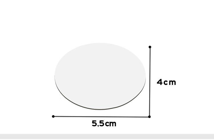 MDF Fridge sticker-Oval Shape