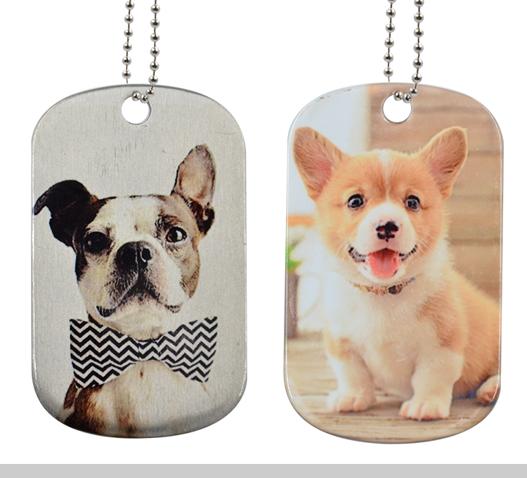 Stainless Steel Dog Tag-Sliver