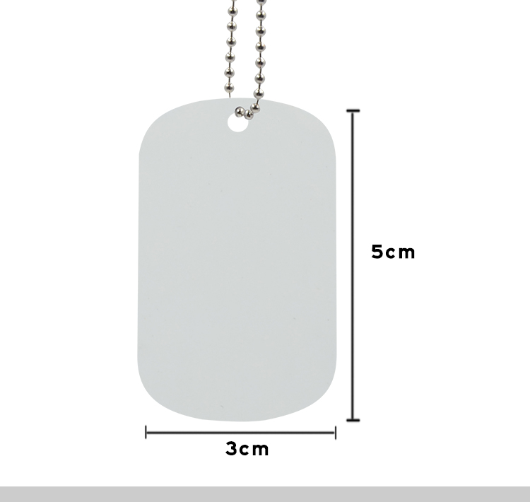 Stainless Steel Dog Tag White