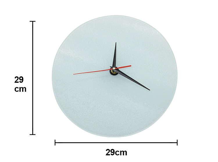 Glass Clock Frame-Round-Glossy-29CM