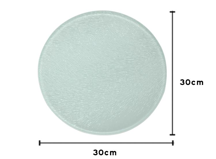 Glass Cutting Board-Round-Texture-Dia 30CM