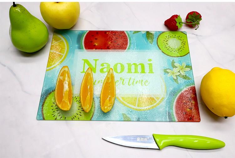 Glass Cutting Board - Wine Shape - 360*190mm - Texture