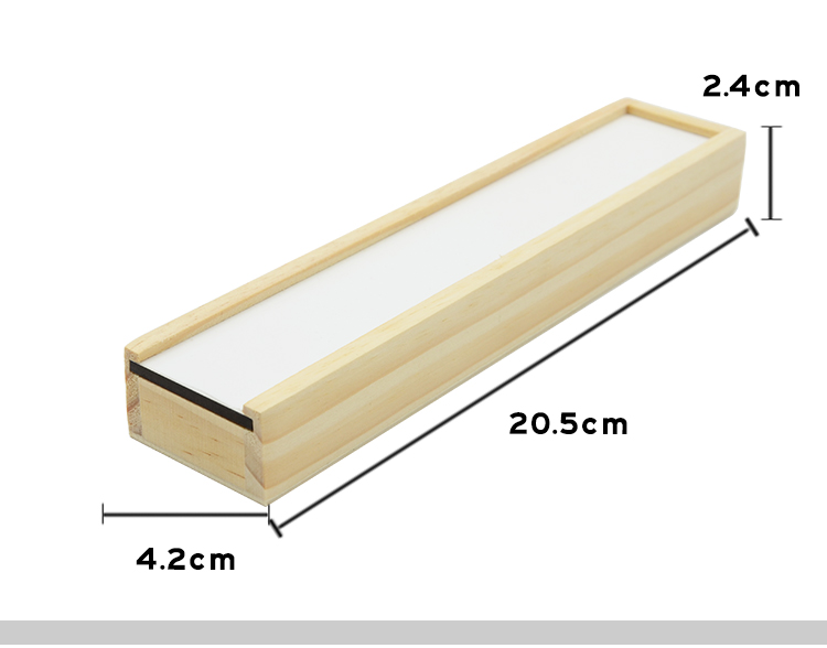Wooden Pencil Box with MDF Insert - with pencil