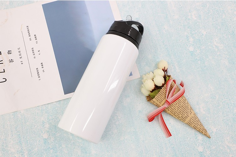 Portable Aluminium Bottle-500/600/750ml-White