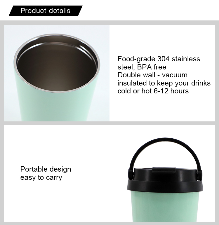 500mL Portable Stainless Steel Bottle