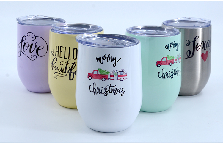 12OZ Stemless Stainless steel Cup Glossy- Mint Green