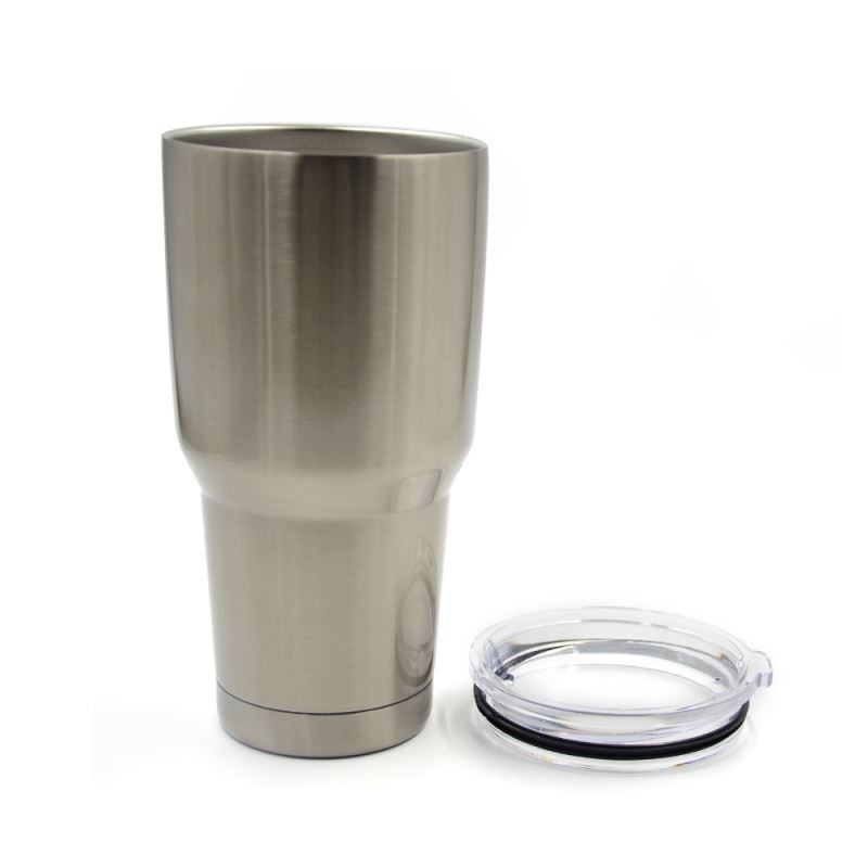 30OZ Stainless Steel Vacuum Travel Tumbler-Silver