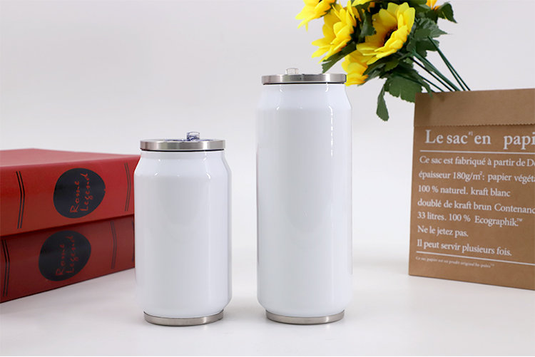Stainless Steel Cola Can - 350ml White