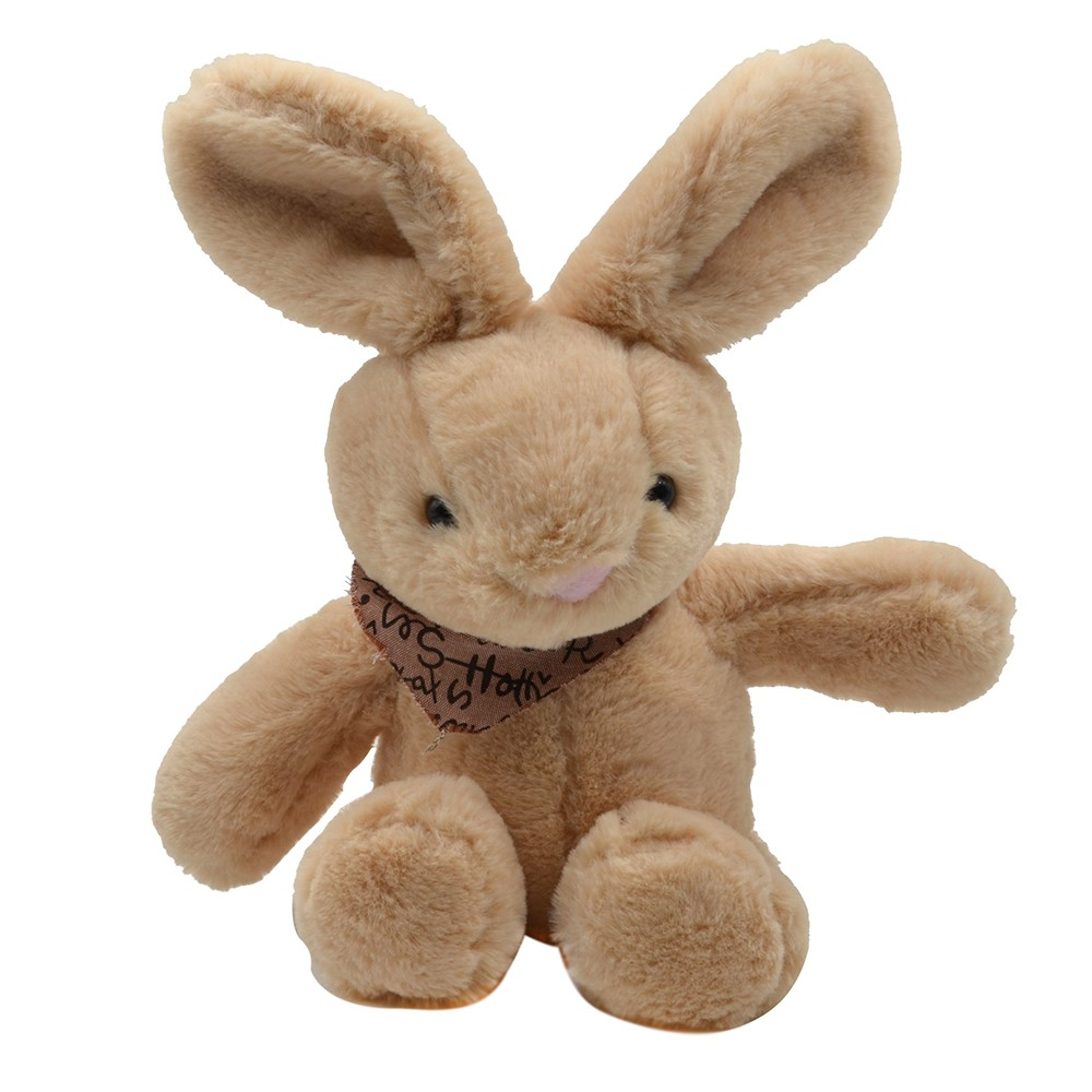Rabbit With T-shirt-Brown-23CM