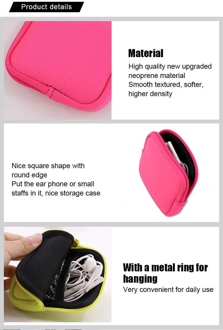 Neoprene Earphone Bag-Square 4