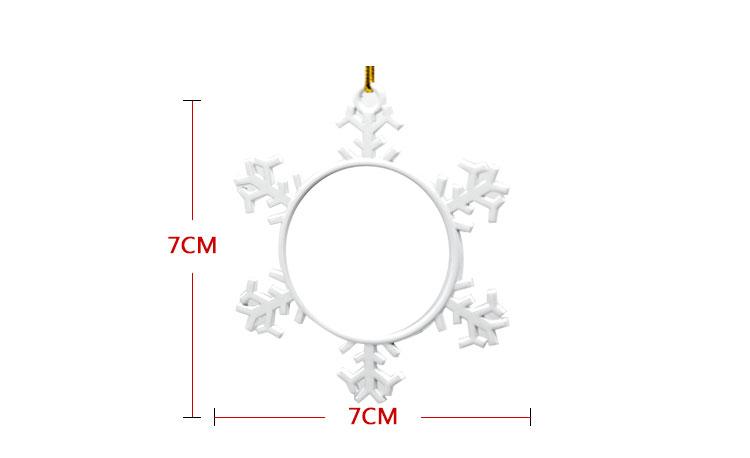 Metal Xmas Ornaments-Snowflower-White