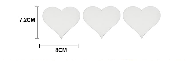 MDF Plaque Board with 3pcs of heart shape