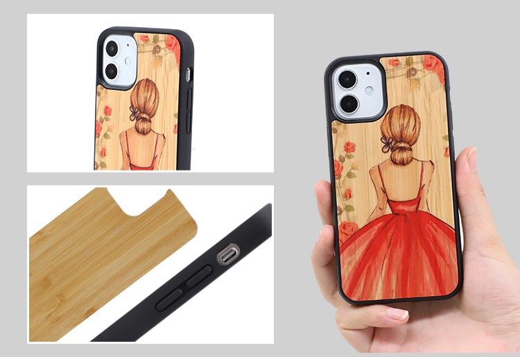 Sublimation TPU Phone Case with Bamboo for Huawei P30 Lite