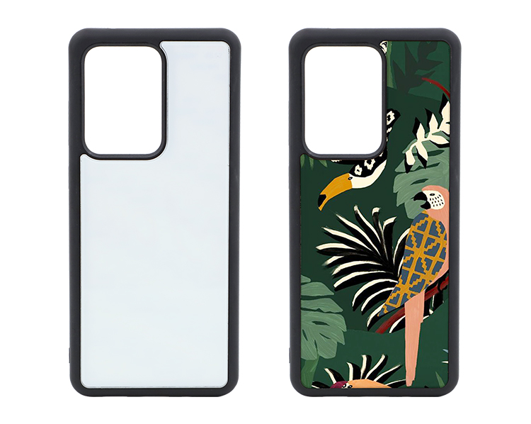 TPU Phone Case with Tempered Glass Insert for Samsung S20 ULTRA