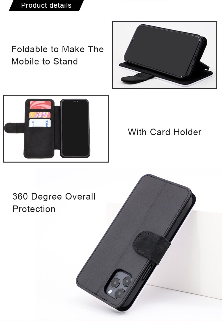 Sublimation Leather Flip Phone Case for iPhone XR Max