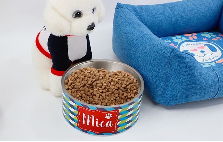Sublimation Stainless Steel PET Bowl(8 x 8 x 3.5 inches)