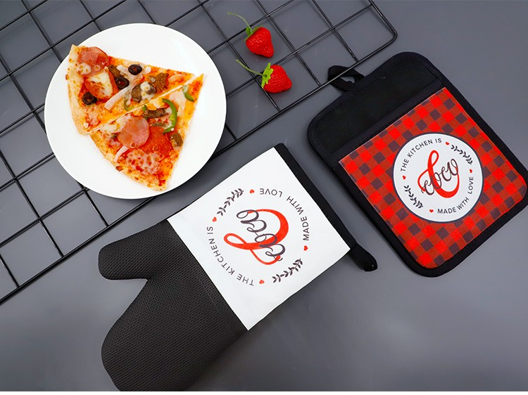 Sublimation Canvas Oven Mitt with Rubber Patch