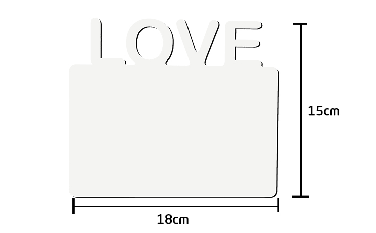 MDF Panel with Vertical LOVE