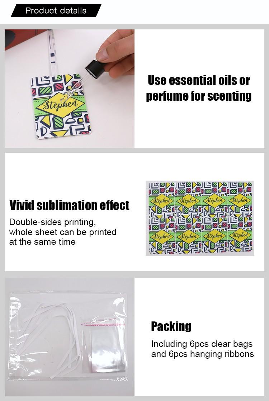 Sublimation Air Freshener Round Shape