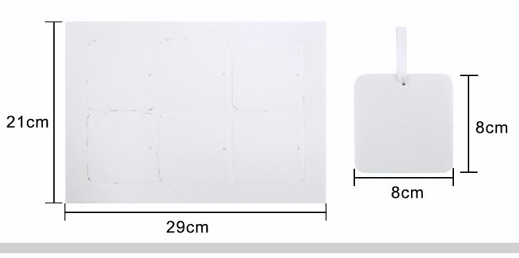 Sublimation Air Freshener Square Shape