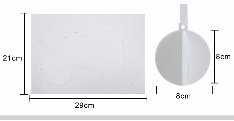 Sublimation Blank Felt Air Freshener Ball Shape