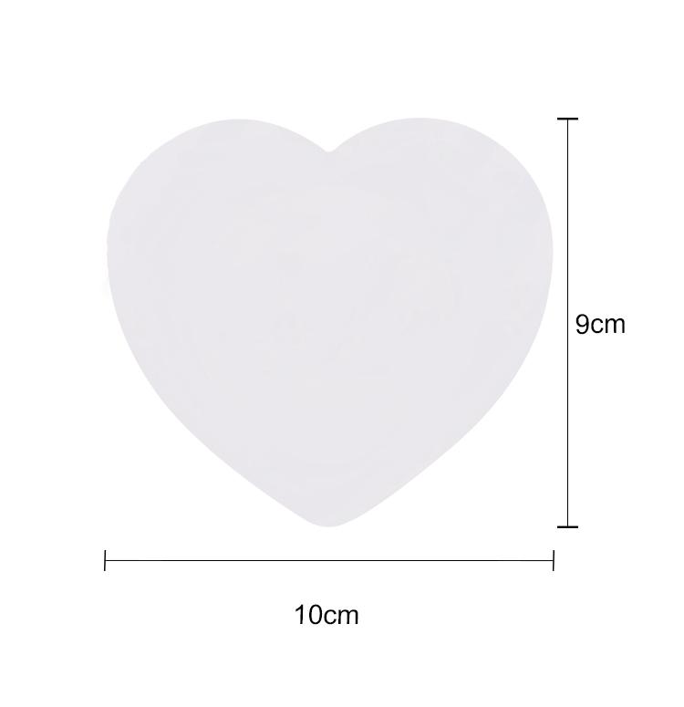Sandstone Coaster With Cork-Heart Shape