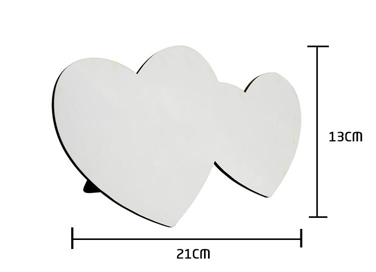 MDF Photo Panel-Heart by heart shape
