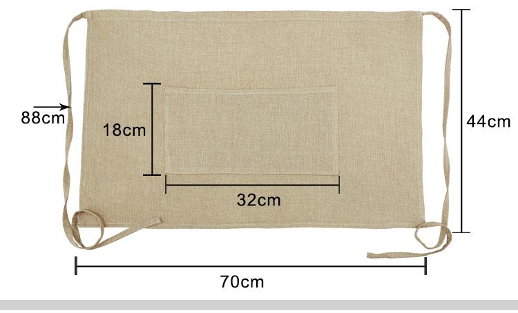Blank Sublimation Waist Apron-Faux Burlap for Customized