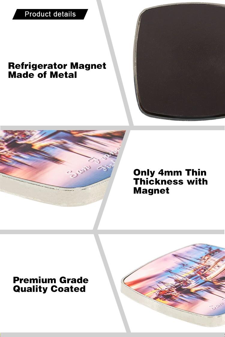 Metal Fridge Sticker-Round